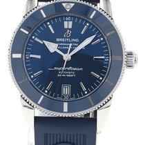 Breitling Superocean Heritage II 42 подержанные 42mm Синий Дата Каучук