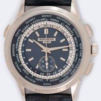 Patek Philippe World Time Chronograph Oro blanco 39.5mm Azul Sin cifras