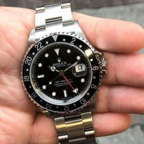 Rolex Steel Automatic Black 40mm pre-owned GMT-Master II