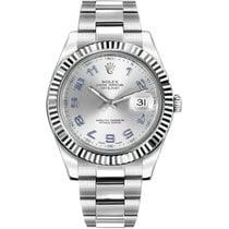 Rolex Datejust II Steel 41mm Silver Arabic numerals United States of America, New York, New York