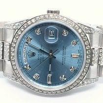 Rolex Day-Date 36 White gold 36mm Blue No numerals UAE, Sharjah