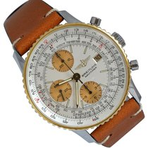 Breitling Old Navitimer Steel 41mm Silver No numerals