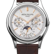 Patek Philippe Perpetual Calendar Platinum 37mm Silver