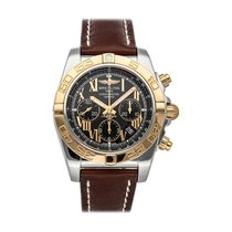 Breitling Chronomat 44 pre-owned 44mm Black Chronograph Date Tachymeter Leather