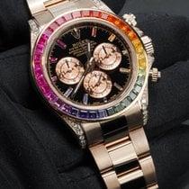Rolex Daytona Rose gold 40mm Black No numerals