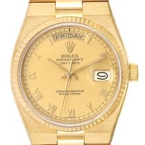 Rolex Day-Date Oysterquartz Yellow gold 36mm Champagne Roman numerals