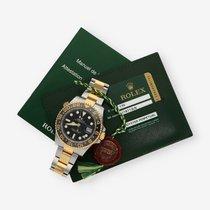 Rolex GMT-Master II 116713LN Sehr gut Gold/Stahl 40mm Automatik