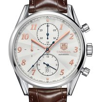 TAG Heuer Carrera Calibre 16 Steel 41mm Silver Arabic numerals