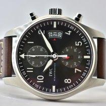 IWC Fliegeruhr Spitfire Chronograph Stahl 43mm Grau Arabisch Deutschland, Iffezheim