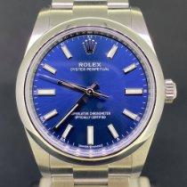 Rolex Oyster Perpetual 34 Acier 34mm Bleu Sans chiffres Belgique, Antwerpen