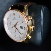 Edox Les Vauberts Gold/Steel 44mm Champagne Arabic numerals