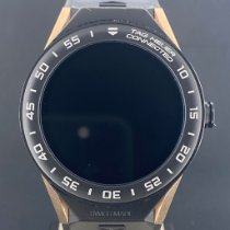 TAG Heuer Rose gold Quartz Black 46mm pre-owned Connected