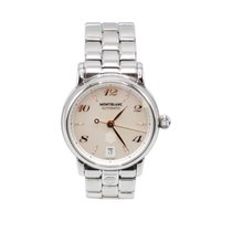 Montblanc Star Steel 36mm Mother of pearl Arabic numerals
