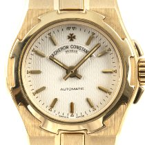 Vacheron Constantin Yellow gold Automatic Silver 24.5mm pre-owned Overseas