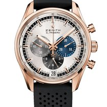 Zenith Red gold Automatic Silver 42mm new El Primero Chronomaster
