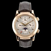 Jaeger-LeCoultre Rose gold Automatic Silver Arabic numerals 41.5mm pre-owned Master Memovox