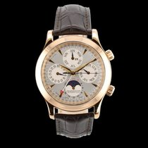 Jaeger-LeCoultre Master Memovox Rose gold 41.5mm Silver Arabic numerals