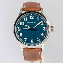 Patek Philippe Steel Automatic Blue Arabic numerals 42mm pre-owned Calatrava