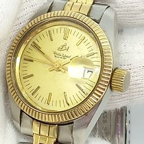 Philip Watch Caribe Gold/Steel 29mm Gold No numerals