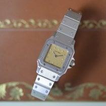Cartier Platin Automatik Champagnerfarben Keine Ziffern 23.5mm neu Santos (submodel)