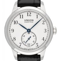 Union Glashütte 1893 Small Second Steel 34mm White