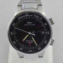 IWC GST Сталь 40mm Черный Без цифр
