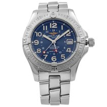 Breitling Colt GMT Steel 41mm Blue Arabic numerals United States of America, New York, NYC