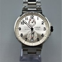 Ulysse Nardin Steel Automatic Silver Arabic numerals 43mm pre-owned Marine Chronometer Manufacture