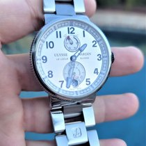 Ulysse Nardin Marine Chronometer Manufacture pre-owned 43mm Silver Date Steel