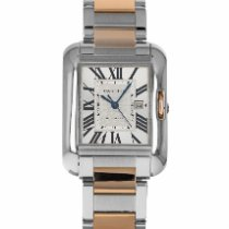 Cartier Tank Anglaise pre-owned 30mm Silver Date Gold/Steel