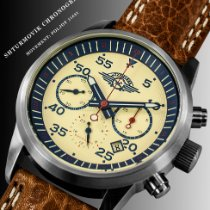 Poljot 43mm Chronograph Chronograph 31681 Watch model Shturmovik Aviator watch Pilot watch new