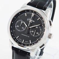 Glashütte Original Senator Chronograph XL neu 2021 Automatik Chronograph Uhr mit Original-Box und Original-Papieren 1-39-34-20-42-04