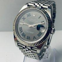 Rolex Datejust Stahl 41mm Grau Keine Ziffern Deutschland, Karlsruhe