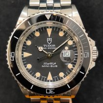 Tudor Steel Automatic Black No numerals 33mm pre-owned Submariner