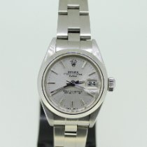 Rolex Oyster Perpetual Lady Date Stahl 26mm Weiß Keine Ziffern