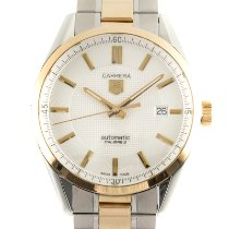 TAG Heuer Carrera Calibre 5 Gold/Steel 39mm Silver