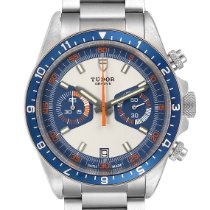 Tudor Heritage Chrono Blue pre-owned 42mm Silver Chronograph Date Steel