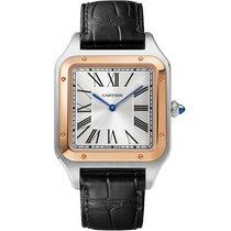 Cartier W2SA0017 Gold/Steel 2021 Santos Dumont 46.6mm new