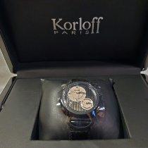 Korloff Steel 45mm Quartz CR1NR new