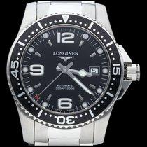 Longines HydroConquest Steel 41mm Black Arabic numerals