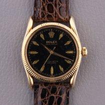 Rolex Oyster Perpetual Желтое золото Черный