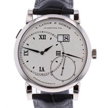 A. Lange & Söhne White gold Manual winding Silver Roman numerals 41.9mm pre-owned Grand Lange 1