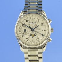 Longines Master Collection pre-owned 40mm Silver Moon phase Chronograph Date Weekday Steel