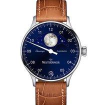 Meistersinger Lunascope Steel 40mm Blue Arabic numerals