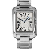 Cartier Tank Anglaise Steel 30.2mm Silver Roman numerals United States of America, Maryland, Baltimore, MD