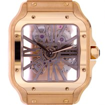 Cartier nové Ruční natahování 39.8mm Růžové zlato Safírové sklo