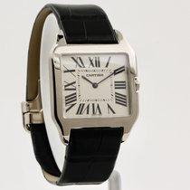 Cartier Santos Dumont Weißgold 35mm Weiß Römisch