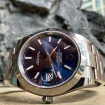 Rolex Datejust Ocel 41mm Modrá Bez čísel