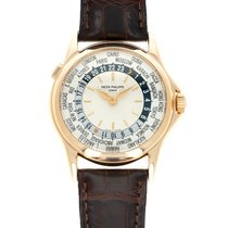 Patek Philippe World Time pre-owned 37mm Silver GMT