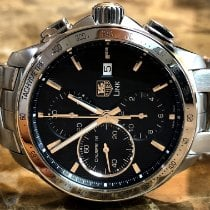 TAG Heuer Link Calibre 16 Steel 43mm Black No numerals United States of America, Pennsylvania, Philadelphia